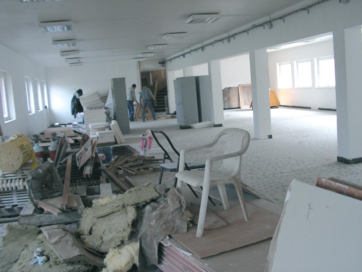 Fin mars, la réhabilitation des locaux, avec une profonde transformation de l'ancienne friche, était quasiment terminée.