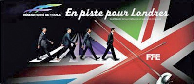 RFF soutient l'équipe nationale française d'escrime aux JO de Londres.