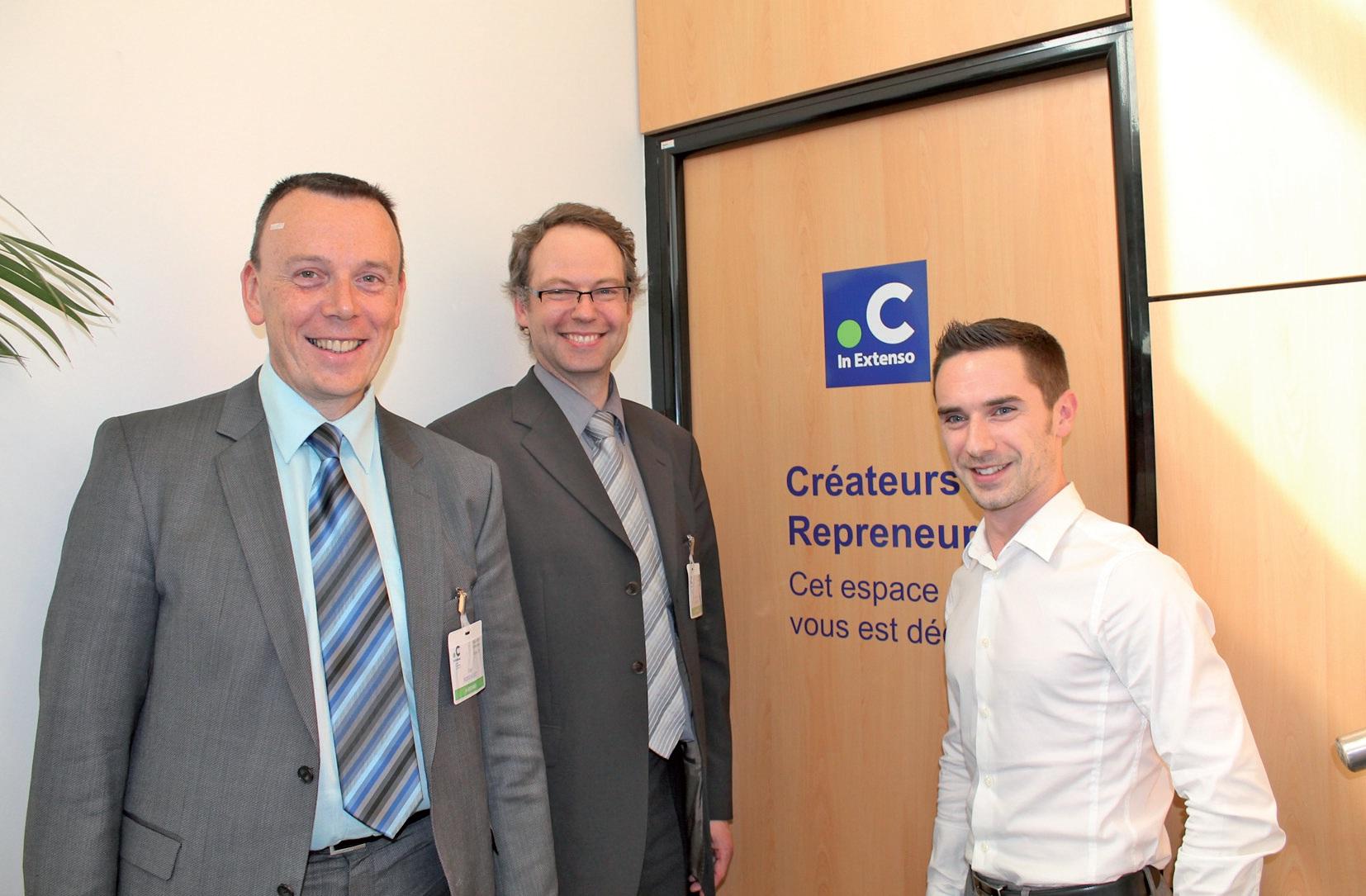 De gauche à droite, Guy Boddaert, directeur associé des agences de Bailleul et Hazebrouck et du pôle Flandres, François Houspie, directeur associé de l'agence d'Armentières, et Charles Bardel, conseil en création d'entreprise.