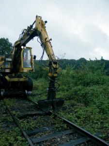 La voie Arques-Lumbres/ Hesdigneul-Desvres en cours de rénovation.