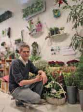 Simon Bougamont, fleuriste designer.