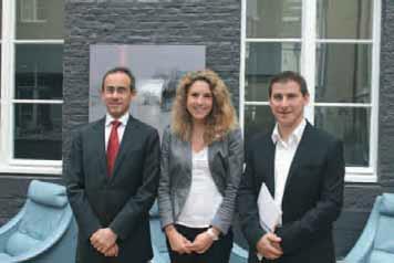 De gauche à droite, Hervé Hatt, directeur général de Meilleurtaux.com, Sandrine Allonier, responsable des études économiques, et Sébastien Ritow, directeur de l'agence de Lille.
