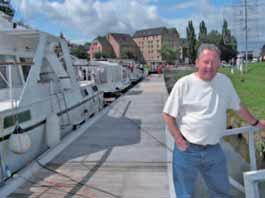 """Pierre James, plaisancier basé à Mons, notamment président de l'association """"Hautmont bateaux""""."""