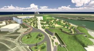 Projections d'aménagement urbain par le cabinet Arc-Ame.