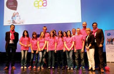 Un groupe de finalistes lors de la remise des prix en mai dernier, avec, à droite, Amaury Flotat.