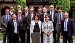 Le conseil d'administration récemment réuni avec Benoît Arnaud (2e ligne, premier en partant de la gauche).