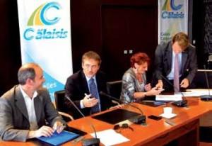Signature de l'acte de vente du foncier entre ICE et Cap Calaisis.