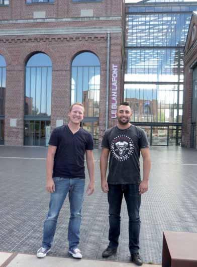 """Pierre Berghof (à gauche) et Nicolas Blondel (à droite) : """"Nous sommes heureux d'avoir créé notre société. Nous ne sommes jamais fatigués car nous vivons de notre passion."""""""