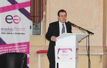 Laurent Hottiaux, préfecture du Nord, se félicite du dispositif qui a permis de baisser le taux de chômage des jeunes.