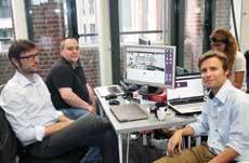 Nicolas Lengaigne (à droite) a créé My Pop Corner avec Pierre-Yves Banaszak et Thomas Lalaux.