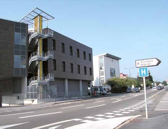 Une vue de l'actuel centre hospitalier Sambre-Avesnois, à Maubeuge.