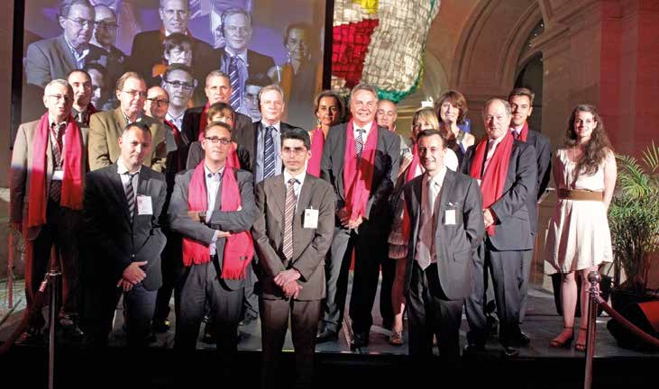 En 2011, au palais des Beaux-Arts de Lille, les membres du bureau du Club Gagnants. Aux côtés de Pascal Boulanger (président) et Patrick Heem (délégué général), Pierre de Saintignon, 1er vice-président du conseil régional du Nord-Pas-de-Calais et 1er adjoint au maire de Lille.