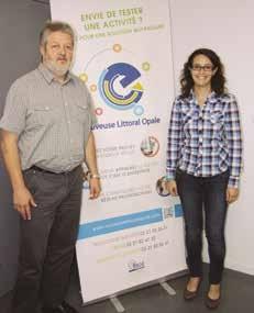 Alain Potier et Elodie Muys.