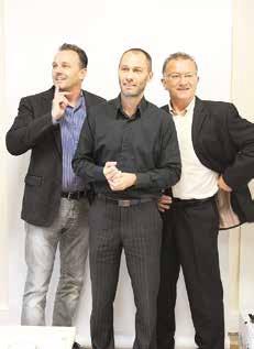 Les trois cogérants d'All-in : Y. Thiriez, J. Lesage et B. Deplanck.