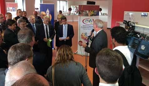 Visite des ateliers d'URMA à Arras, lors de la présentation d'Alain Griset, président de la Chambre de métiers et de l'artisanat de région Nord-Pas-de-Calais.