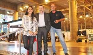 Violaine Fareneau, chef de projets, Patrick Vansteenkiste, responsable sécurité sûreté, et Thierry Schellaert, responsable régisseurs et équipiers.