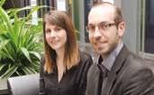 Les deux fondateurs de Ping Flow : Claire Jolimont, 24 ans, diplômée d'une école de commerce lilloise, et son frère Alexandre, 28 ans, ingénieur informatique.