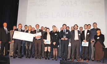 La promotion des trophées Leadexport 2014 est au grand complet sur scène.