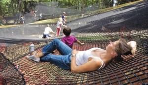 """Le parc dispose déjà d'un parcours aventure dans les arbres. Une nouvelle activité baptisée """"Parcabout"""" permettra d'offrir de nouvelles sensations aux visiteurs."""