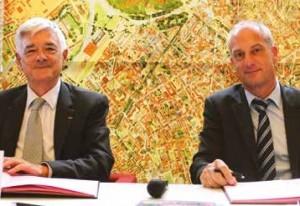 Luc Doublet, président de Lille's agency, et Jean-Marie Thuillier, directeur des Practices et de l'Innovation chez BPI group.