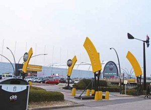 Le centre commercial Cité Europe à Coquelles.