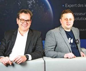 Laurent Allard, directeur général, et Octave Klaba, président du conseil d'administration d'OVH.
