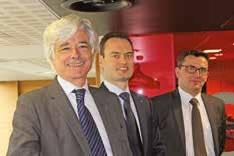 De gauche à droite Luc Doublet, président de Nord France invest, Jan Demarez, gérant fondateur d'Aquafresh, et Yann Pitollet, directeur général de Nord France invest.