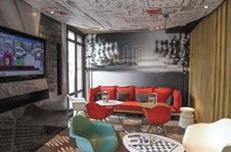 Ibis Grand-Palais s'est inspiré des codes du haut de gamme, à l'image du salon commun.