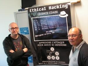 Franck Ebel (à gauche) et Robert Crocfer. Pour eux, la lutte contre les pirates a commencé il y a plus de dix ans