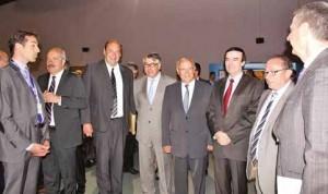 Patrick Masclet, président de l'Association des Maires du Nord, a accueilli Jean-François Cordet, préfet de région, préfet du Nord, et Jean-René Lecerf, président du Conseil Départemental du Nord, au 60e congrès des maires du Nord.