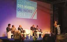 Pendant l'intervention de Jean-François Cordet, préfet de région, préfet du Nord.