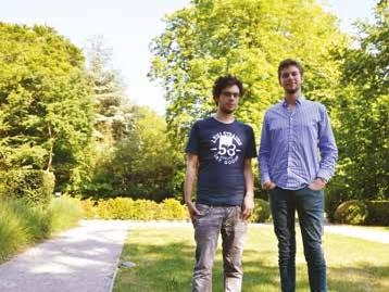 Arthur Hirel et François Lebrun, respectivement dirigeant et stagiaire de Zats.me.