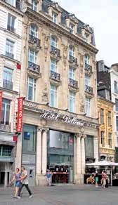 L'hôtel Bellevue sur la Grand'Place à Lille.