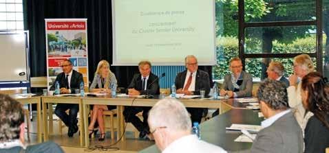 Lors du lancement du Cluster Senior University.