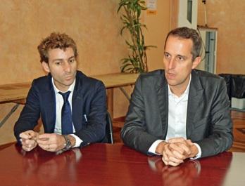 Pierre Peysson (à gauche) et Vincent Balès.