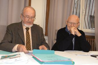 Marc Goujard, président du Comité territorial ESS Sambre-Avesnois (à gauche), et Jean Quéméré, président du CRESS Nord-Pas-de- Calais, lors de la présentation du Forum.