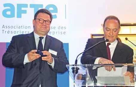 Lors de ce dîner-débat, Rémi Rodier, directeur général de la Société de recherche de synergies, a accédé au statut de membre d'honneur de l'AFTE pour avoir été, de 2003 à 2011, délégué régional Nord de France. Il a reçu des mains de Philippe Messager la médaille de l'Association pour le mandat exercé et les services rendus.