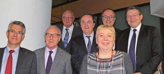 De gauche à droite, Alain Denizot, Francis Leroy, Francis Parent, Philippe Bailly, Françoise Dal, François Macé et Antoine Harleaux.