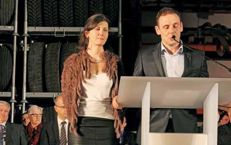 Damien et Aurélie Cousin, des Ets Samyn (préparation et transport de béton, location de camions...).