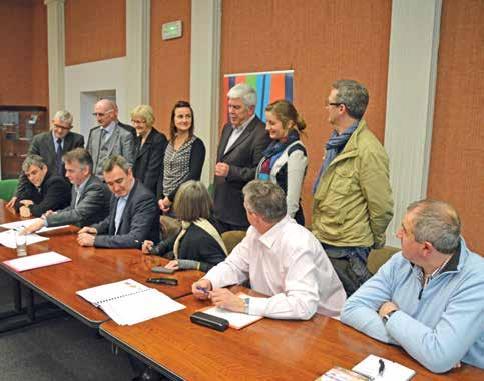À Saint-Omer, les acteurs de la ville d'Arques et de la collectivité de communes d'Arques se sont réunis afin de ratifier la charte.