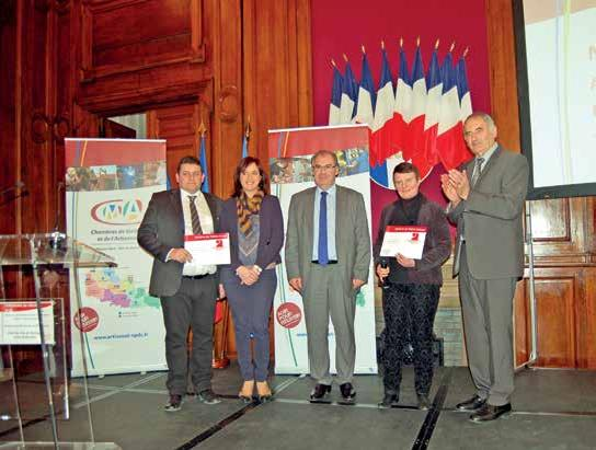 Stéphane Level et Carine Sannier ont reçu leur diplôme de Maître artisan.
