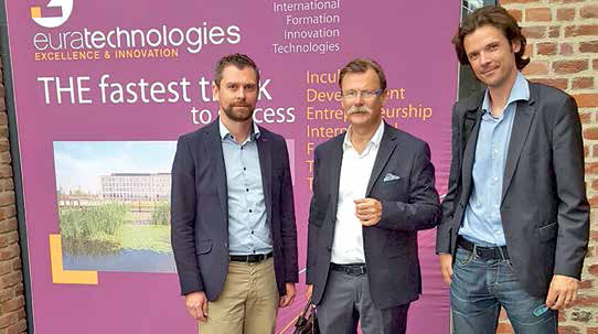 Les intervenants du cabinet Verspieren à EuraTechnologies : Ludovic Naessens, Jean-Pierre Sarazin et Romain Derigny (de gauche à droite).