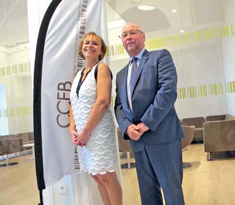 Patricia de Backer, la directrice de la CCFB, et Jos Helewaut, son président