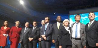 Henri Poupart-Lafarge, aux côtés notamment du Ministre de la Transition Ecologique et Solidaire Nicolas Hulot