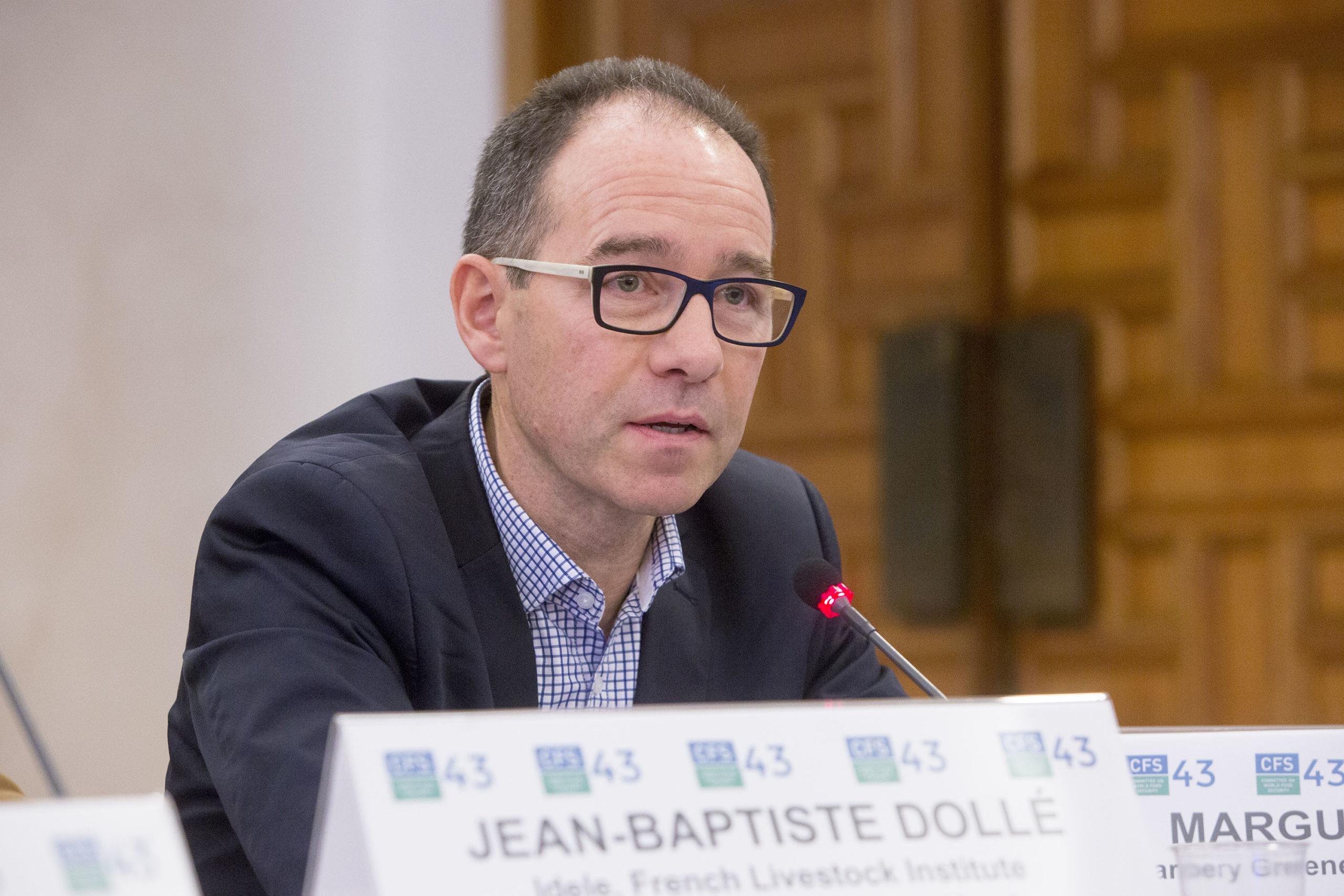Jean-Baptiste Dollé Chef du service environnement de l'Institut de l'élevage à Arras