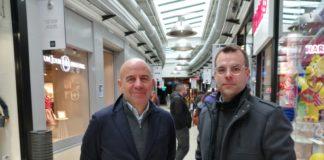 Franck Verschelle, président d'Advantail, et Florent Renet, directeur du centre.