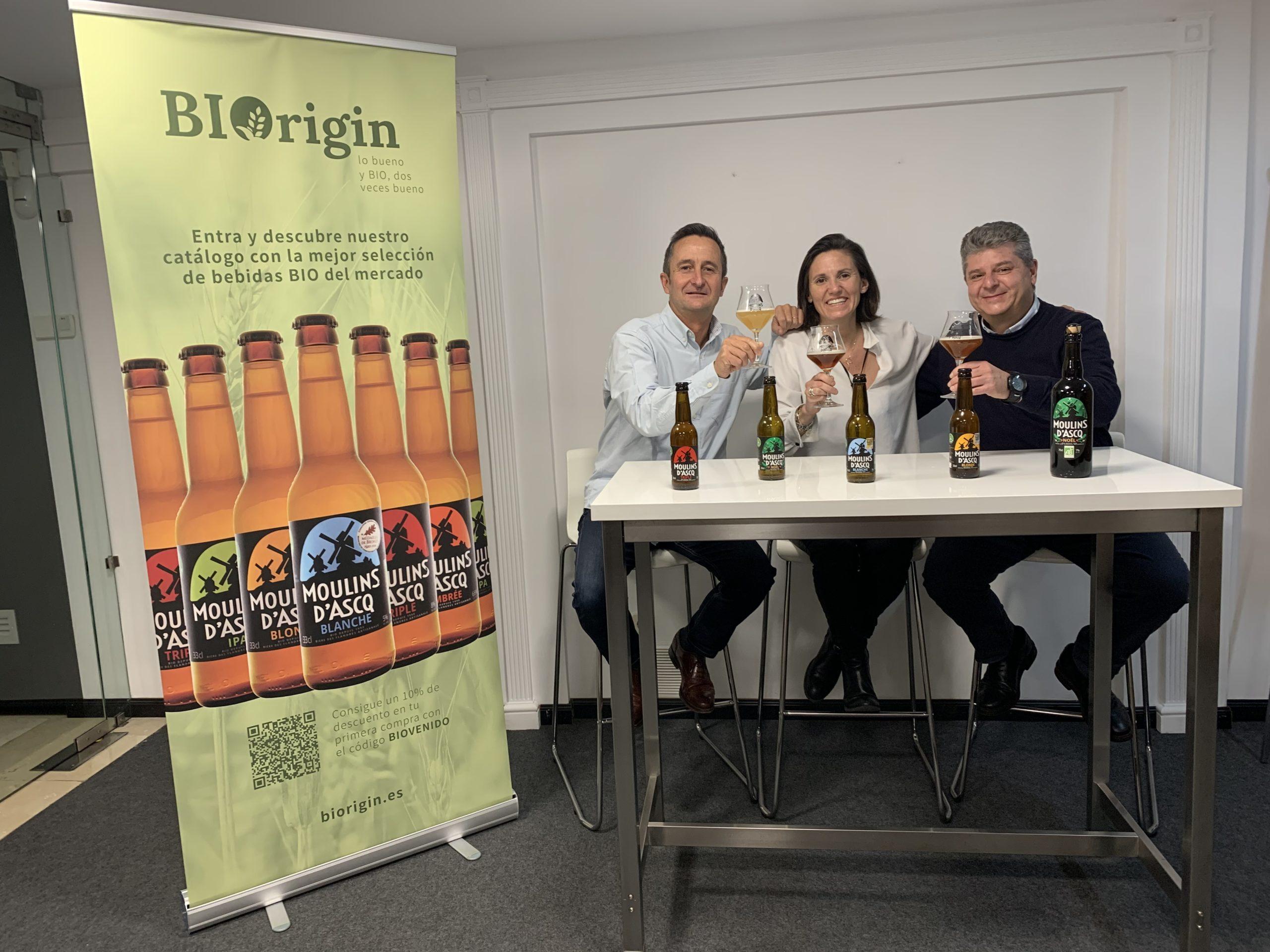 Arnaud Decoster et Carlos Lazaro associés de Biorigin, aux côtés de Sophie Rigaud, chargée du développement commerciale.